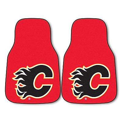 FANMATS Calgary Flames 2-pc Printed Nylon Carpet Car Mats 17