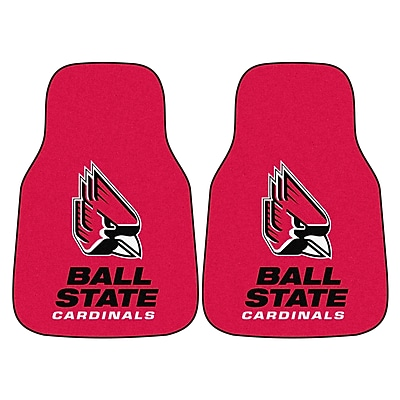 FANMATS Ball State 2-pc Nylon Carpeted Car Mats 17