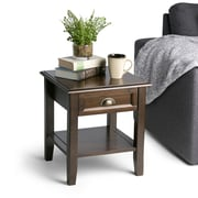 Simpli Home Burlington 18 x 18 x 20 inch End Side Table in Espresso Brown (3AXCBUR-002)