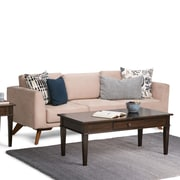 Simpli Home Carlton 44 x 22 x 18.5 inch Coffee Table in Tobacco Brown (3AXCCRL-01)