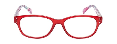 VK Couture +2.75 Strength High Fashion Reading Glasses, Red (E1303)