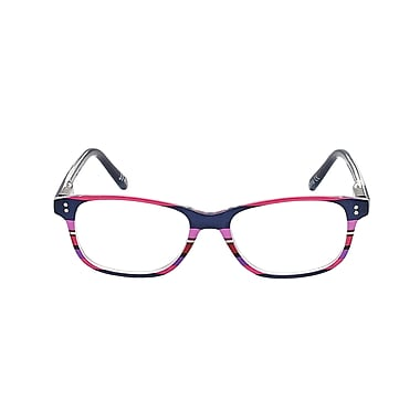 VK Couture +2.50 Strength High Fashion Reading Glasses, Pink Stripe (E1304)