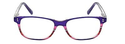 VK Couture +2.25 Strength High Fashion Reading Glasses, Purple Stripe (E1304)