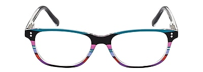 VK Couture +2.25 Strength High Fashion Reading Glasses, Blue Stripe (E1304)