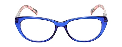 VK Couture +2.25 Strength High Fashion Reading Glasses, Blue (E1307)