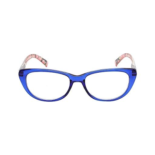 VK Couture +3 00 Strength High Fashion Reading Glasses, Blue (E1307)