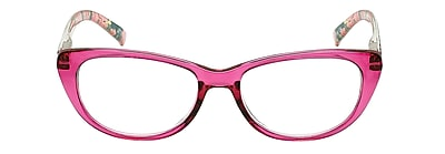 VK Couture +1.75 Strength High Fashion Reading Glasses, Pink (E1307)