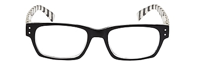 VK Couture +2.25 Strength High Fashion Reading Glasses, Black (E1309)