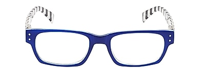 VK Couture +1.25 Strength High Fashion Reading Glasses, Blue (E1309)