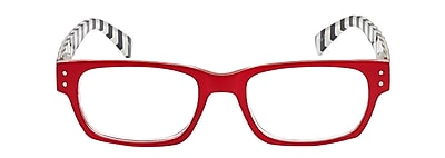 VK Couture +1.50 Strength High Fashion Reading Glasses, Red (E1309)