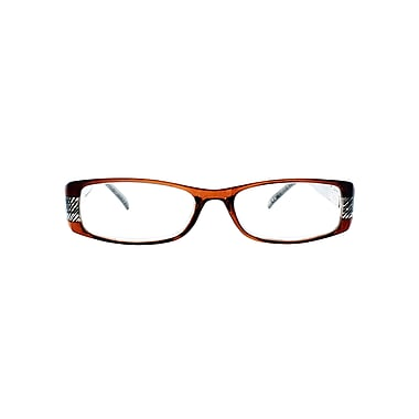 Victoria Klein +3.00 Strength Fashion Reading Glasses, Brown (E9072)