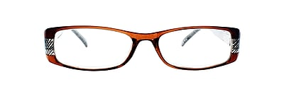 Victoria Klein +1.25 Strength Fashion Reading Glasses, Brown (E9072)