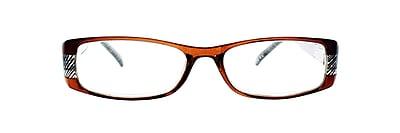 Victoria Klein +3.00 Strength Fashion Reading Glasses, Brown (E9072)