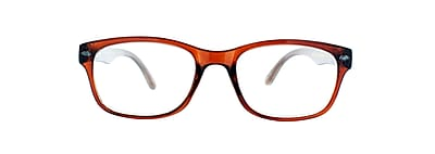 Victoria Klein +1.25 Strength Fashion Reading Glasses, Brown (E9078)