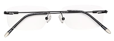 Optitek +1.50 Strength Hi Tech Reading Glasses, Black (EAR7120)