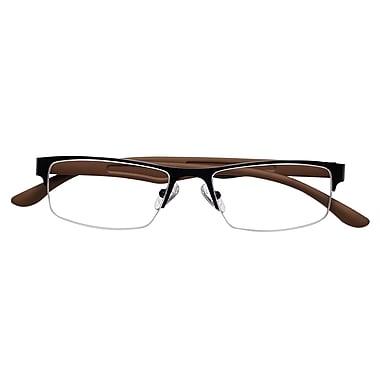 Optitek +2.75 Strength Hi Tech Reading Glasses, Brown (EAR7161)