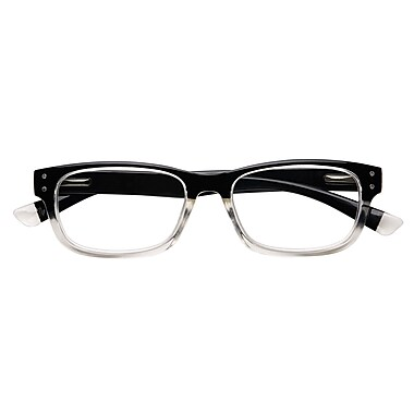 Optitek +2.50 Strength Hi Tech Reading Glasses, Black Clear (EAR7162)