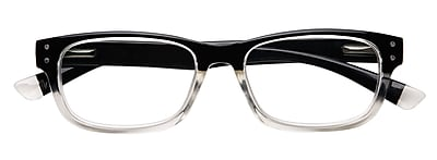 Optitek +3.00 Strength Hi Tech Reading Glasses, Black Clear (EAR7162)