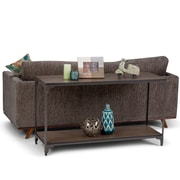 Simpli Home Nantucket 54 x 18 inch Console Sofa Table in Walnut Brown (3AXCNTT-04)