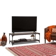 Simpli Home Nantucket 54 x 18 inch TV Media Stand in Walnut Brown for TVs up to 60 inches (3AXCNTT-05)