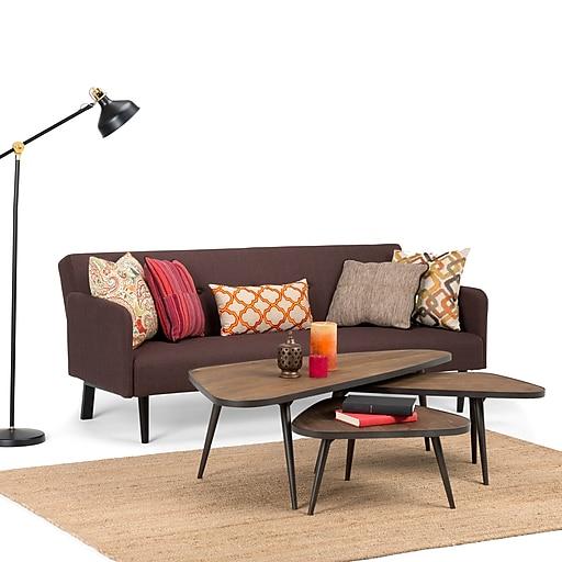 Simpli Home Aubrey X Inch Pc Nesting Coffee Table Set In - 3 piece nesting coffee table