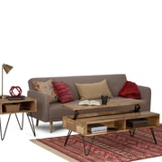 Simpli Home Hunter 48 x 24 inch Coffee Table in Natural Mango Wood (AXCHUN-01)