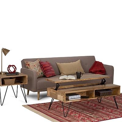 Simpli Home Hunter 48 x 24 inch Coffee Table in Natural Mango Wood (AXCHUN-01)