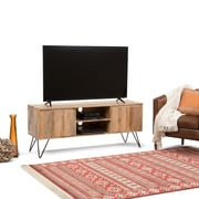Simpli Home Hunter 60 x 18 inch TV Media Stand in Natural Mango Wood for TVs up to 66 inches (AXCHUN-08)