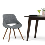 Simpli Home Malden Bentwood Dining Chair in Grey Woven Fabric (AXCMALN-G)