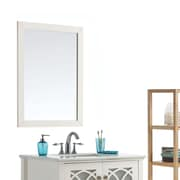 "Simpli Home Paige 24"" x 34"" Soft White Bath Vanity Décor Mirror (AXCMIR-2434-PG)"