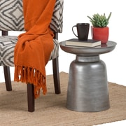 Simpli Home Toby Metal Accent Table in Silver (AXCMTBL-04-SL)