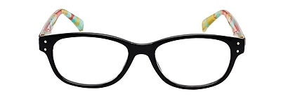 VK Couture +2.25 Strength High Fashion Reading Glasses, Black (E1303)
