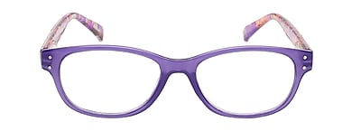 VK Couture +1.25 Strength High Fashion Reading Glasses, Pastel Purple (E1303)