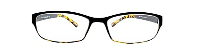 Flex 2 +2.75 Strength Flexible Reading Glasses, Black Demi (E5028-275-960)