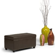 Simpli Home Amelia Storage Ottoman Bench in Chocolate Brown (AXCOT-257-CBR)