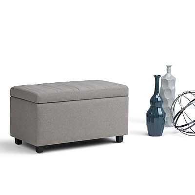 Simpli Home Darcy Storage Ottoman Bench in