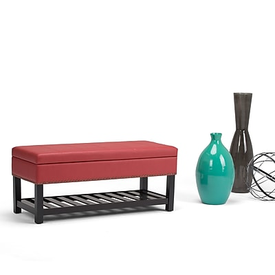 Simpli Home Radley Storage Ottoman Bench in