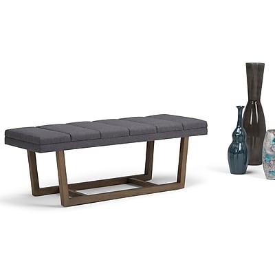 Simpli Home Jenson Ottoman Bench in Slate Grey (AXCOT-269-GL) 24290146