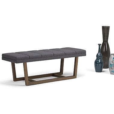 Simpli Home Jenson Ottoman Bench in Slate Grey (AXCOT-269-GL)
