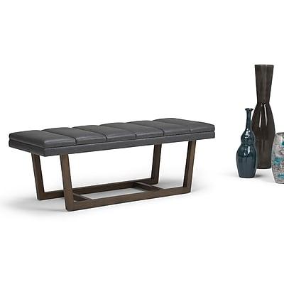 Simpli Home Jenson Ottoman Bench in Stone Grey (AXCOT-269-GR) 24290147