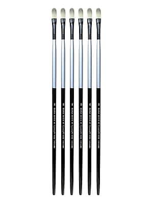 Dynasty Black Silver Filbert Long Handle 8, Pack of 6 (PK6-32862)