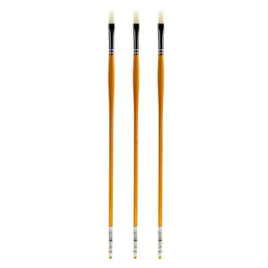Grumbacher Bristlette Oil and Acrylic Brushes, 3 Flat, Pack of 3 (PK3-4720F.3)