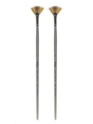 Robert Simmons Titanium Brushes, Long Handle Single Stock 2 Fan TT46, Pack of 2 (PK2-225146002)