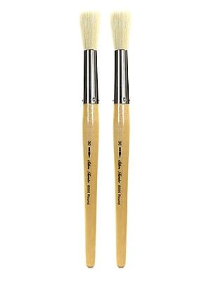 Silver Brush Silver Jumbo Oil Brushes, Round 30, Pack of 2 (PK2-8000-30)