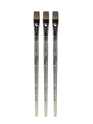 Robert Simmons Titanium Brushes, Short Handle Single Stock 1/2 in. Flat glaze TT55, Pack of 3 (PK3-225055050)