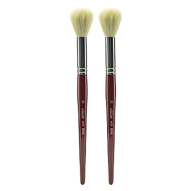Silver Brush White Round/Oval Mop Brushes, 14 Round mop, Pack of 2 (PK2-5518S-14)