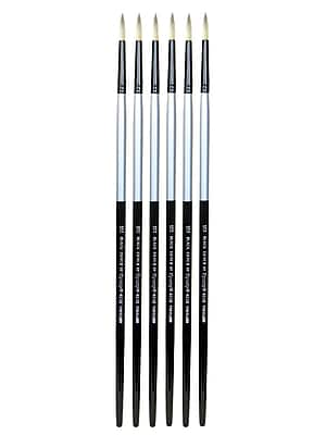 Dynasty Black Silver Round Long Handle 16, Pack of 6 (PK6-32859)