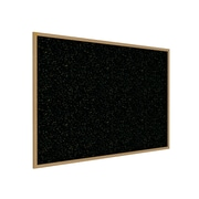 Ghent 3' H x 5' W Recycled Bulletin Board with Oak Finish Frame, Confetti (WTR35-CF)