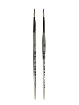 Robert Simmons Titanium Brushes, Short Handle Single Stock 5 Round TT85, Pack of 2 (PK2-225085005)