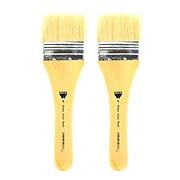 Martin/F. Weber Prima Artist Hake and Wash Brushes white bristle wash 6 short handle [Pack of 2] (PK2-7023-6)